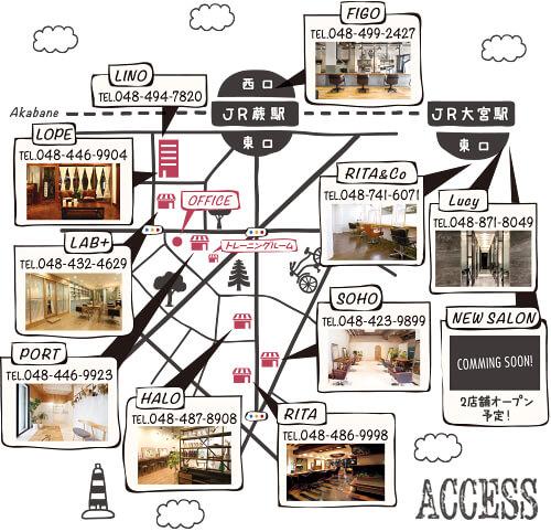 各店舗マップ